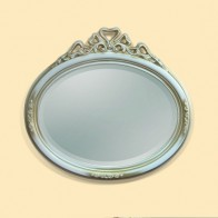 Oglinda Clasica Antichizata Alb Bronzo, Ovala, 97x89