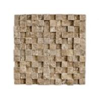 Mozaic Travertin Noce Tridimensional 30x30
