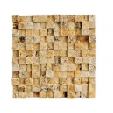 Mozaic Travertin Golden Tridimensional 30x30