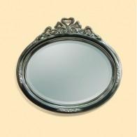 Oglinda Clasica Antichizata Negru Platino, Ovala, 97x89