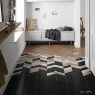 Gresie_Chevron_Negro_Blanco_Hexawood_Old