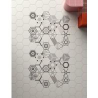 Gresie Hexagonala Paprica B&W