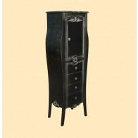 Mobilier Clasic Antichizat Vertical Nero Platino, H 146 cm